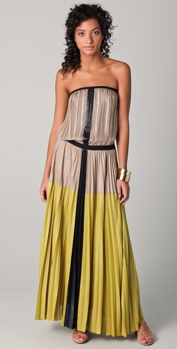 BCBGMAXAZRIA Lilyan Strapless Maxi Dress