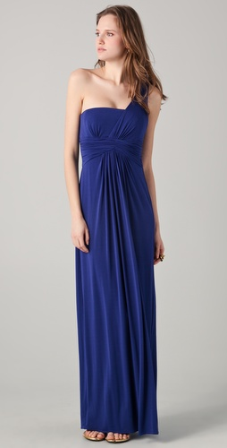 BCBGMAXAZRIA Matilde One Shoulder Gown