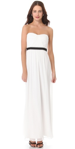 BCBGMAXAZRIA Amber Strapless Cascade Gown at Shopbop / East Dane