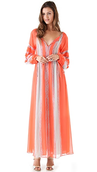 BCBGMAXAZRIA Elicia Peasant Maxi Dress