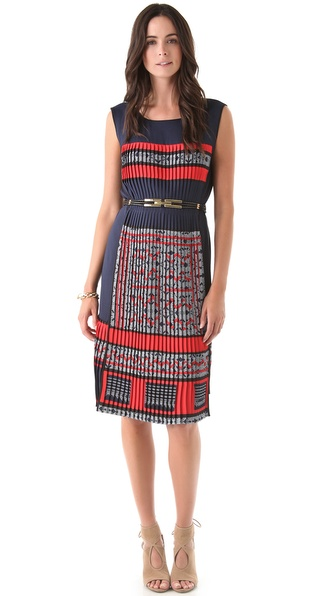 BCBGMAXAZRIA Attica Tile Dress