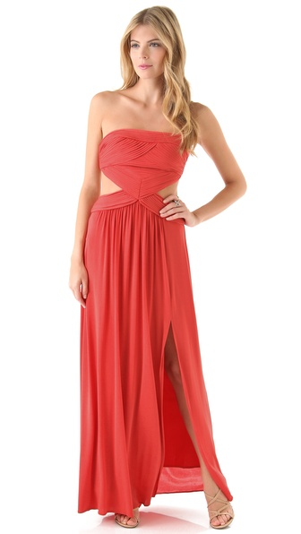BCBGMAXAZRIA Baile Cutout Gown