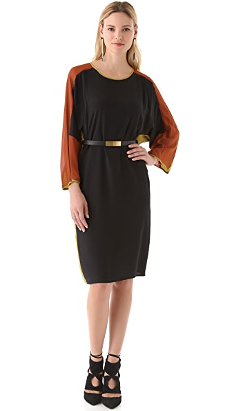 BCBGMAXAZRIA Darya Colorblock Dress