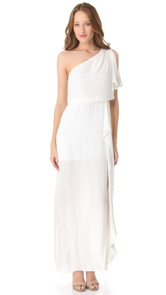 BCBGMAXAZRIA Kendal One Shoulder Gown
