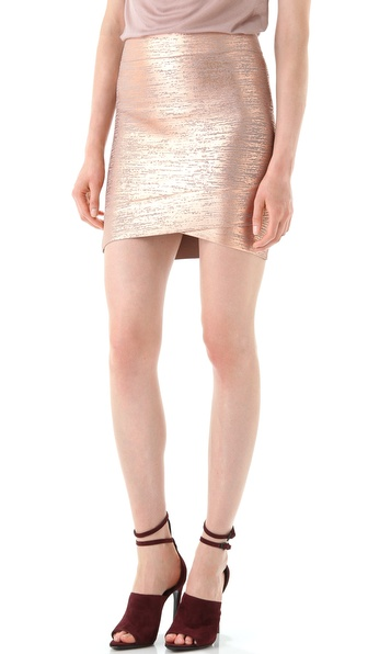 BCBGMAXAZRIA Silvie Cross Hem Miniskirt