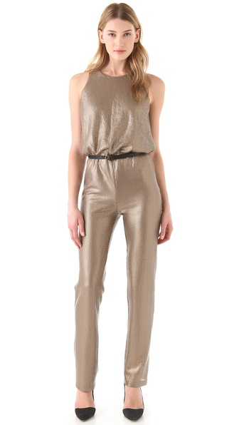 BCBGMAXAZRIA Lowe Sequin Jumpsuit