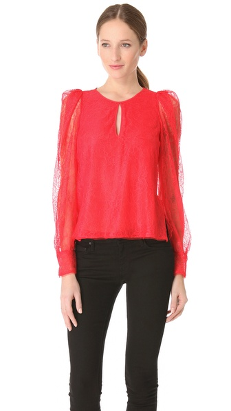 BCBGMAXAZRIA Shina Lace Blouse