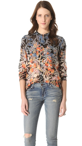 BCBGMAXAZRIA Anderson Woven Blouse