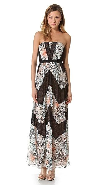 BCBGMAXAZRIA Elle Strapless Maxi Dress