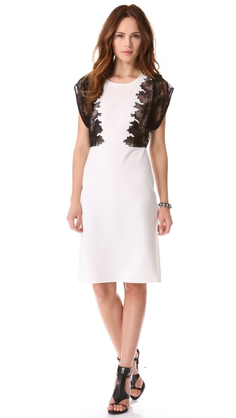 BCBGMAXAZRIA Lace Panel Dress