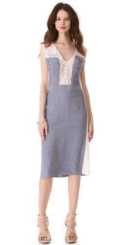 BCBGMAXAZRIA Lace Combo Dress