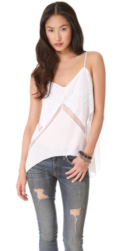 BCBGMAXAZRIA Lace Tank Top at Shopbop / East Dane