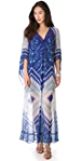BCBGMAXAZRIA Printed Gown