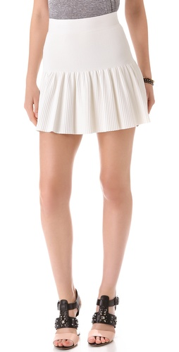 BCBGMAXAZRIA Valeria Ruffle Hem Skirt at Shopbop / East Dane
