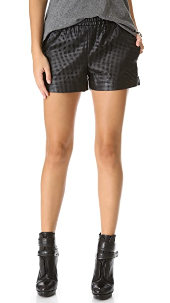BCBGMAXAZRIA Perforated Boxer Shorts