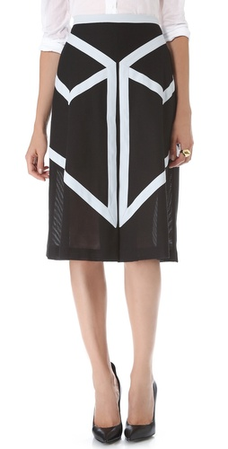 BCBGMAXAZRIA Tea Length Ribbon Skirt at Shopbop / East Dane
