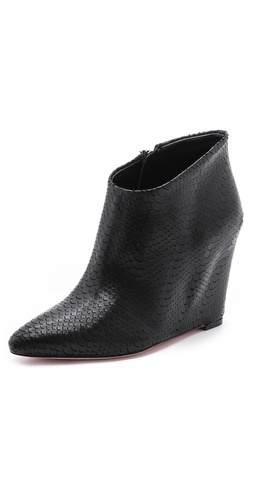 BCBGMAXAZRIA Vadans Pointy Toe Wedge Booties at Shopbop / East Dane