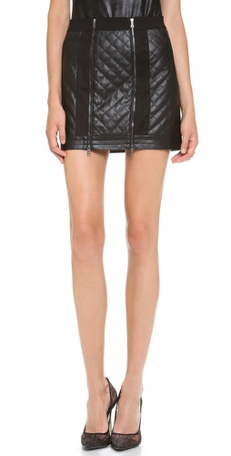 BCBGMAXAZRIA Roxy Quilted Faux Leather Skirt at Shopbop / East Dane