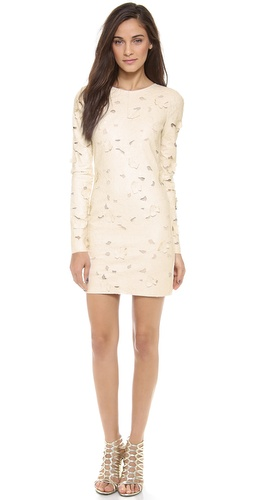 BCBGMAXAZRIA Long Sleeve Cutout Dress at Shopbop / East Dane