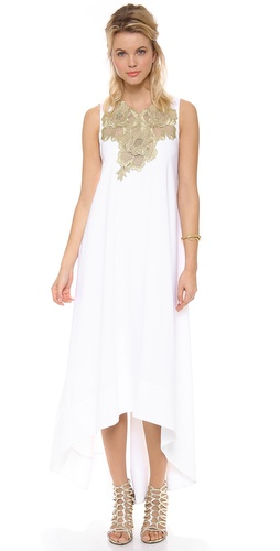 BCBGMAXAZRIA Embellished Neck Open Back Dress at Shopbop / East Dane