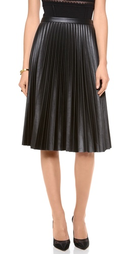 BCBGMAXAZRIA Pleated Skirt at Shopbop / East Dane