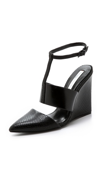 BCBGMAXAZRIA Lister Ankle Strap Wedges