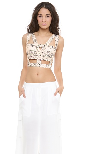 Bcbgmaxazria Kaja Harness Top - Talc Combo at Shopbop / East Dane