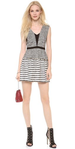 BCBGMAXAZRIA Piper Striped Peplum Dress at Shopbop / East Dane