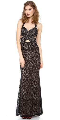 BCBGMAXAZRIA Daga Cutout Maxi Dress at Shopbop / East Dane
