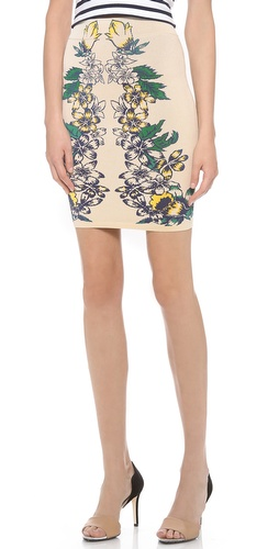 BCBGMAXAZRIA Caimbrie Printed Skirt at Shopbop / East Dane