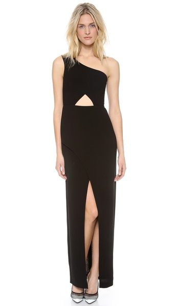 Bcbgmaxazria Kauri One Shoulder Maxi Dress - Black at Shopbop / East Dane