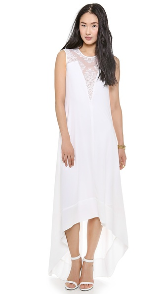 Bcbgmaxazria Denisa High Low Dress - White at Shopbop / East Dane