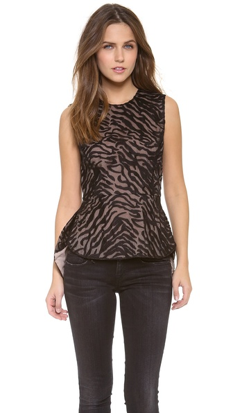 Bcbgmaxazria Peplum Top - Black at Shopbop / East Dane