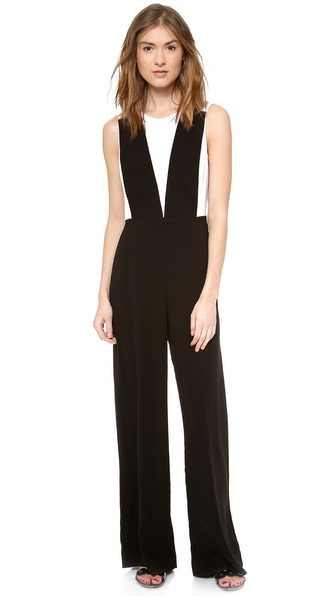 Bcbgmaxazria Galiena Jumpsuit - Black Combo at Shopbop / East Dane