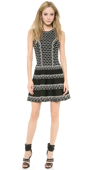 Bcbgmaxazria Wilma Dress - Black Combo at Shopbop / East Dane