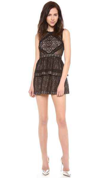 Bcbgmaxazria Joselyn Peplum Dress - Black at Shopbop / East Dane
