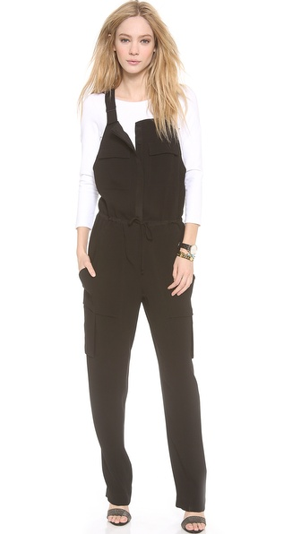 Bcbgmaxazria Rowan Overalls - Black at Shopbop / East Dane
