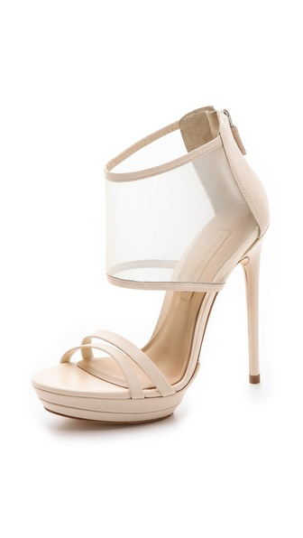 Bcbgmaxazria Ferned Mesh Cuff Sandals - Natural at Shopbop / East Dane