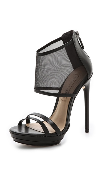 Bcbgmaxazria Ferned Mesh Cuff Sandals - Black at Shopbop / East Dane