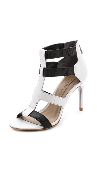 Bcbgmaxazria Palmer Strappy Sandals - Black/White at Shopbop / East Dane