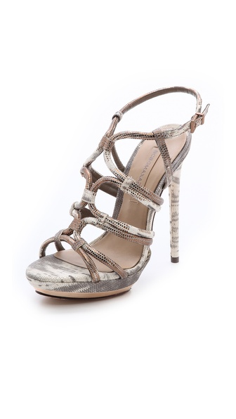 Bcbgmaxazria Farrow Strappy Sandals - Mushroom at Shopbop / East Dane