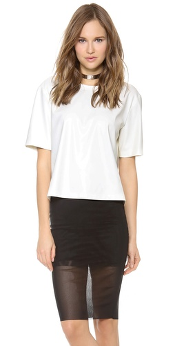 BCBGMAXAZRIA Micah Faux Leather Top at Shopbop / East Dane