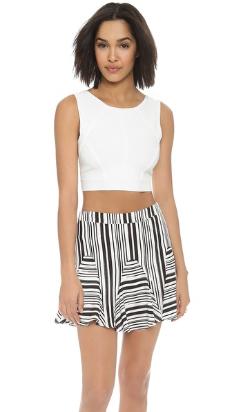 BCBGMAXAZRIA Fenella Cropped V Back Sweater