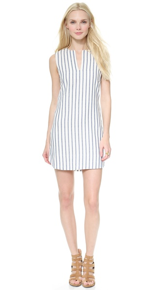BCBGMAXAZRIA Yosura Vertical Stripes Dress
