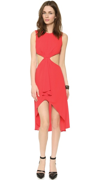 BCBGMAXAZRIA Victoria Side Cutout Dress