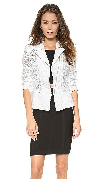 BCBGMAXAZRIA Boe Lace Zip Jacket