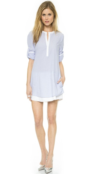 Bcbgmaxazria Kelsey Shirtdress - Chambray White at Shopbop / East Dane