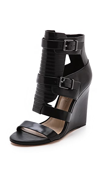 BCBGMAXAZRIA Lidelle Cutout Wedge Sandals