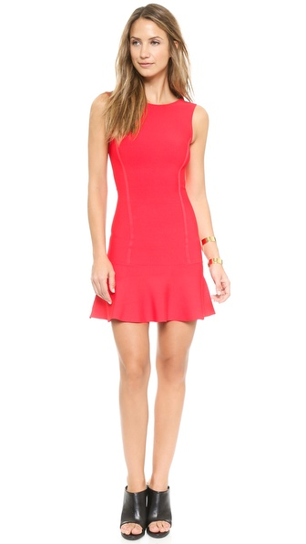 BCBGMAXAZRIA Padma Low Back Ruffle Dress
