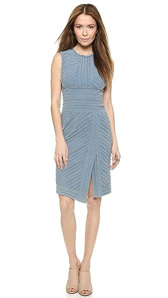 Shop BCBGMAXAZRIA online and buy Bcbgmaxazria Cecily Dress - Light Indigo Wash dresses online